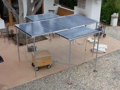 Portable Photovoltaic Power Solar Array / Structure