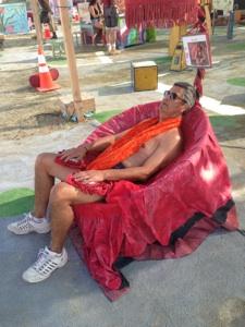 Breathing Chair Burning Man 2014