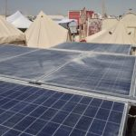 Portable Photovoltaic Power Solar Array / Structure At Burning Man
