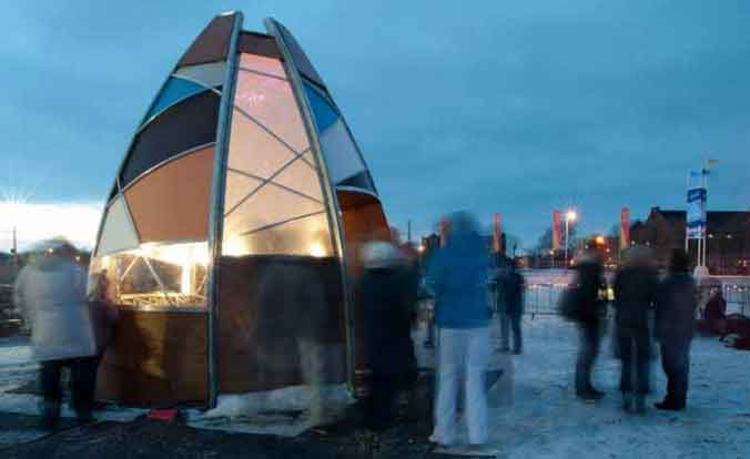 Warming Hut at the Winter Games